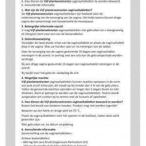 Cydonia vijf plantenextracten gebruiksaanwijzing