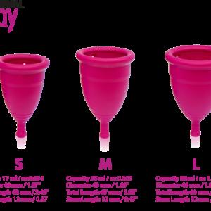 gentleday menstruatie cups maten S, M en L