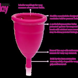 Gentleday details menstruatie cup