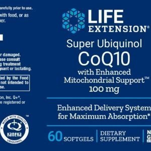 Super ubiquinol CoQ10 with enhanced support verpakking
