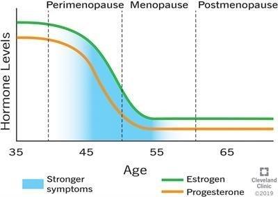 oestrogeen en progesteron levels menopauze